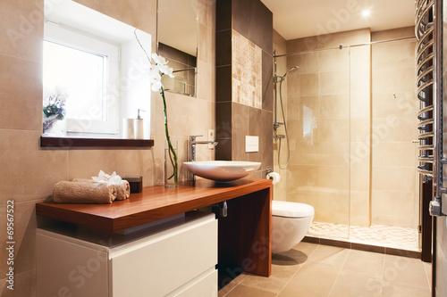 Foto op Plexiglas Trappen Modern private bathroom interior