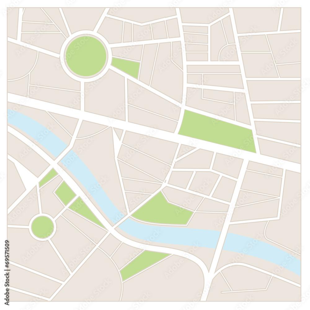 Fototapety, obrazy: Street map