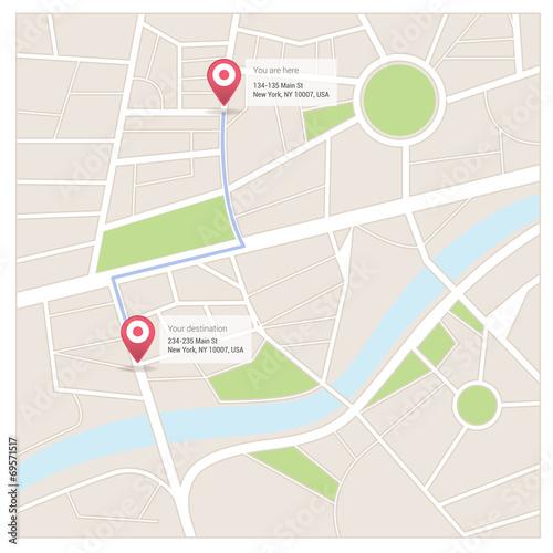 Street map and directions – kaufen Sie diese Vrgrafik und finden on