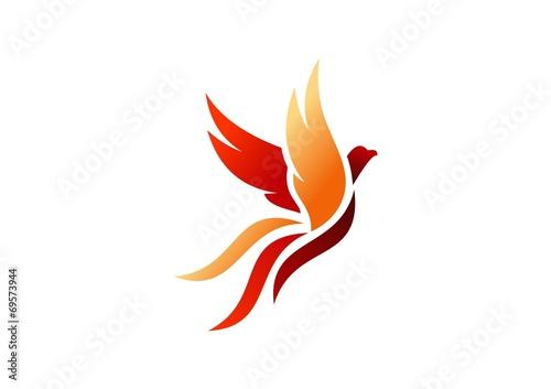 bird logo phoenix flying hawk eagle wings icon symbol buy this rh stock adobe com phoenix bird logo png phoenix bird logo hd