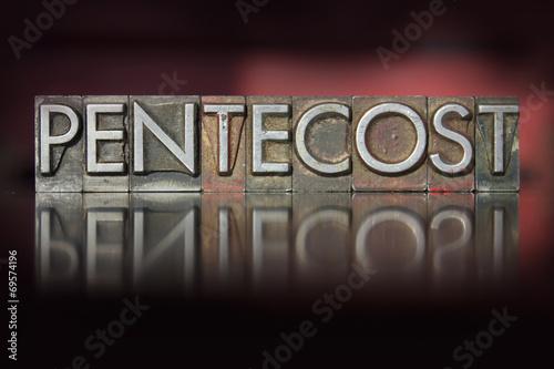 Tablou Canvas Pentecost Letterpress