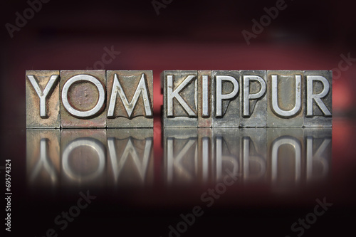 Photo Yom Kippur Letterpress
