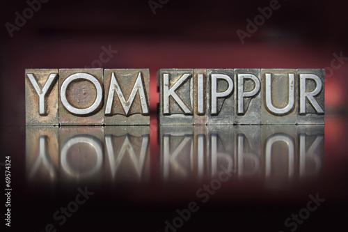 Yom Kippur Letterpress Fototapeta