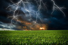 Thunderstorm With Lightning In...