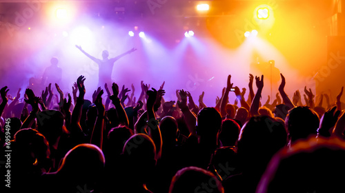 Photo Jubelnde Konzertbesucher auf Rock-Konzert