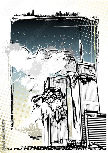 Fotografia  World Trade Center destruction