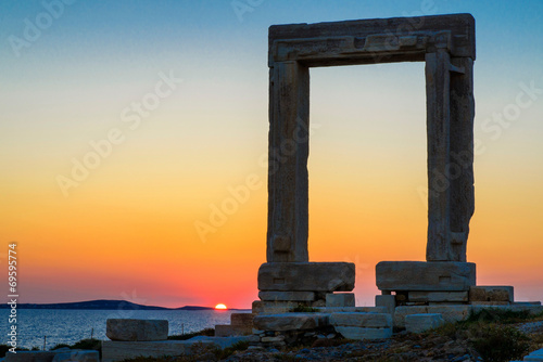 Le temple d'apollon à Naxos фототапет