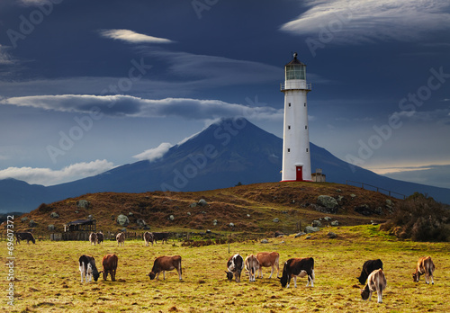 fototapeta na ścianę Latarnia morska w Cape Egmont, Nowa Zelandia