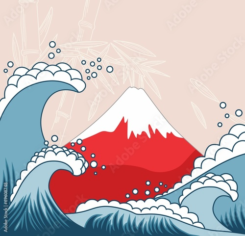 Japan style illustration - 69608748