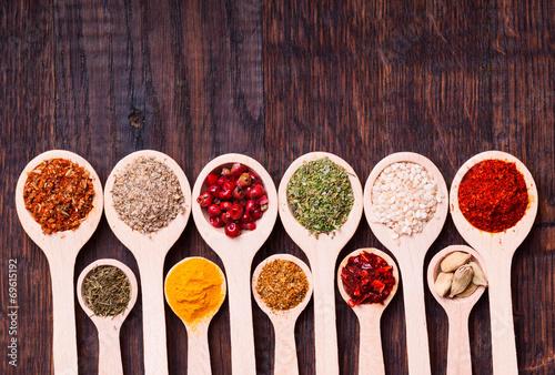 Keuken foto achterwand Kruiden spices