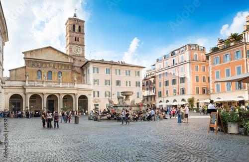 Poster Rome Basilica di Santa Maria in Trastevere, Rome. Italy
