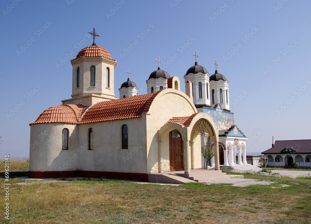 Fototapety, obrazy: Orthodox Monastery Codru with two churches,  near Tulcea , Roman