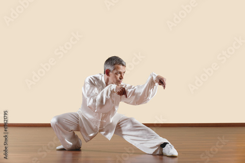 Carta da parati Lange Faust Style,Kung Fu Lehrer und Jungen