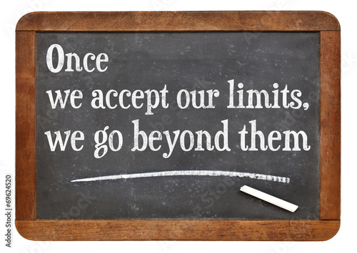 our limits quote Wallpaper Mural