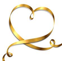 Goldene Herzschleife