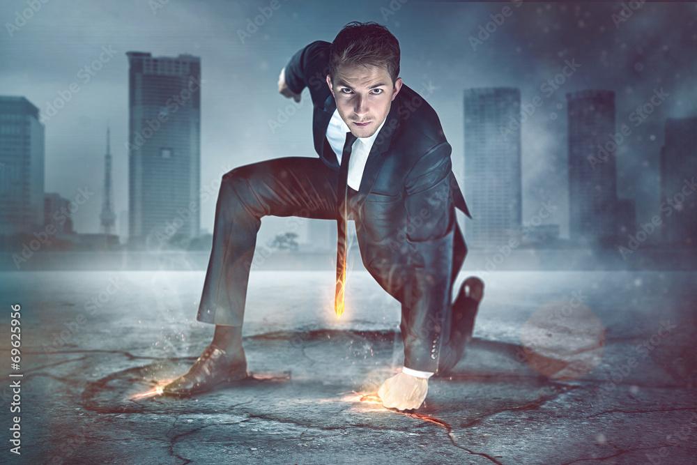 Fototapety, obrazy: Businessman Superhero