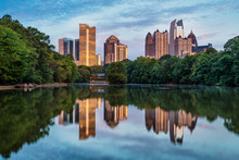 Skyline Of Downtown Atlanta, G...