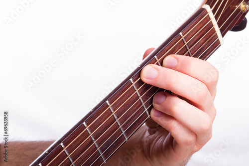 G major chord performed on acoustic guitar - Buy this stock photo ...