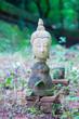 Ancient Head Buddha statue in Wat Umong at Chiangmai