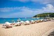 Beautiful Valtos beach near Parga, Greece.