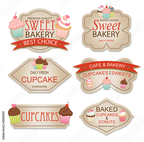Bakery labels Canvas Print