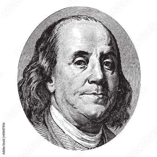 Photo Benjamin Franklin portrait