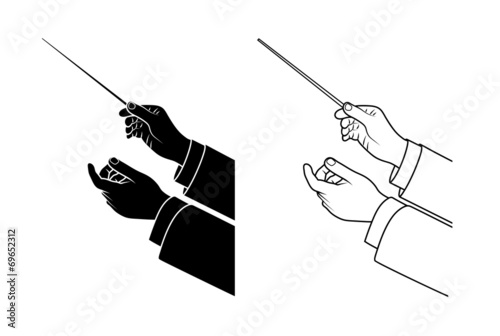 Photo hand drawing conductor