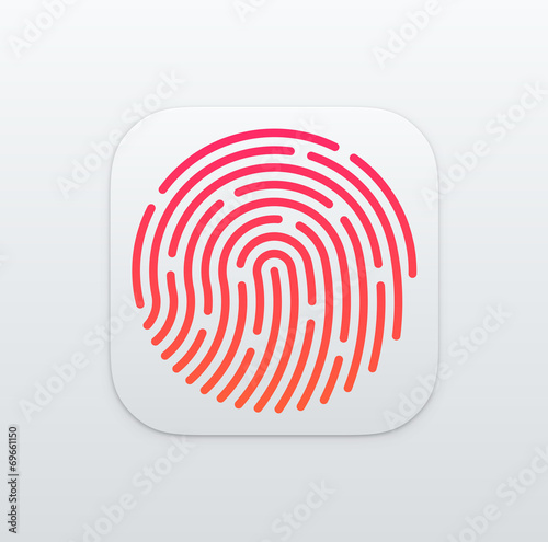 Photo  Fingerprint App icon background. Vector Illustration