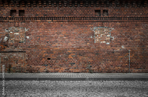 Poster Brick wall Old grunge urban background