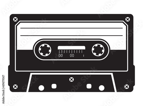 Canvas Print Cassette tape