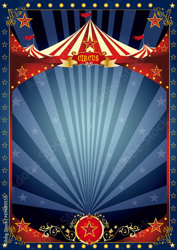 Fototapeta Fun night circus poster