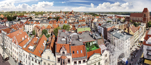 High resolution panorama of Torun, Poland.