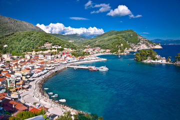 Beautiful panoramic view of Parga port, Greece.