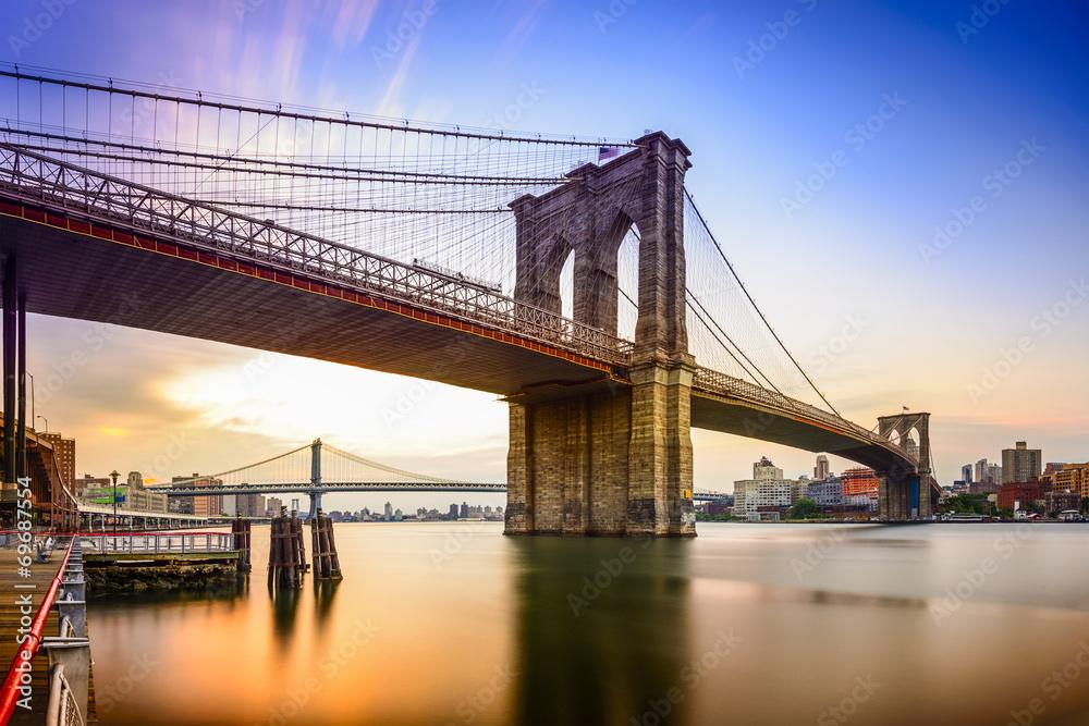 Fototapety, obrazy: Brooklyn Bridge, New York City, USA