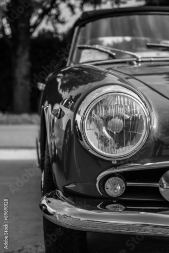 Keuken foto achterwand Vintage cars the splendor of the beautiful chrome of vintage cars
