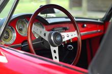 Cockpit Of Classic Sport Car