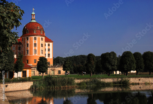 Obraz na plátně Turm der Moritzburg