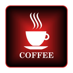 Obraz na Szkle Do kawiarni Coffee cup icon