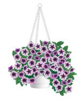 Petunia Flowers In Pots Hangin...
