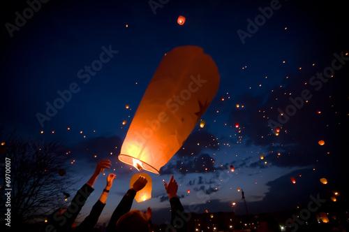 Photo  Фестиваль небесных фонариков