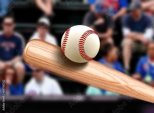 Photo  Baseball Bat Hitting Ball