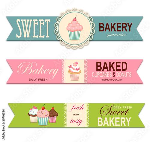 Bakery labels Wallpaper Mural