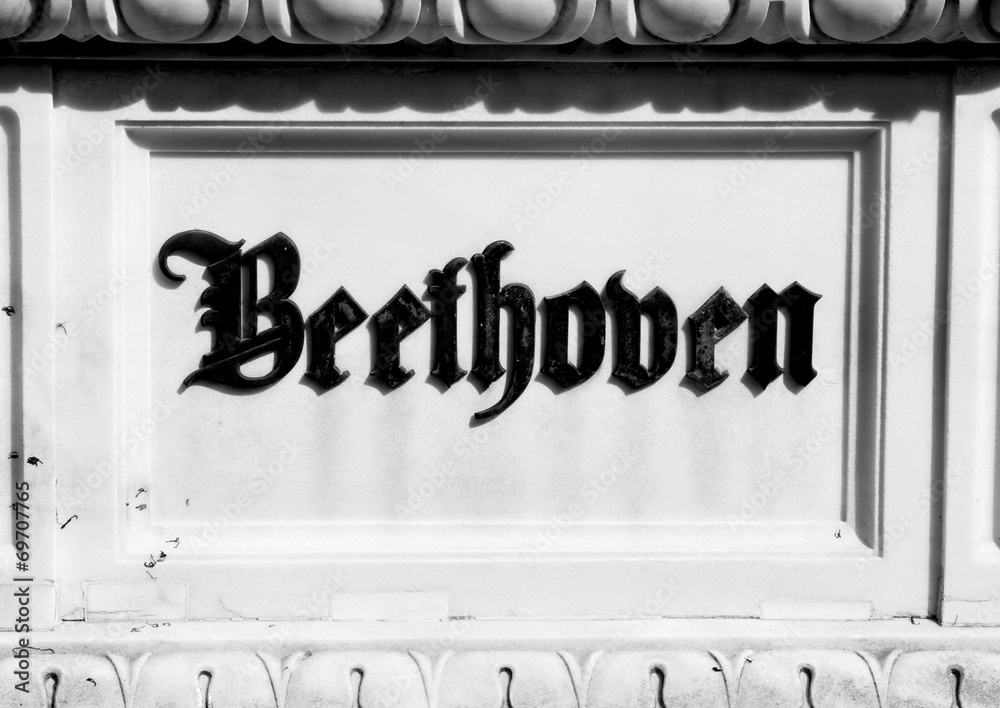 Photo & Art Print Inscription on the tombstone of BEETHOVEN\'S grave ...