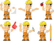 Strong Construction Worker Mascot 7