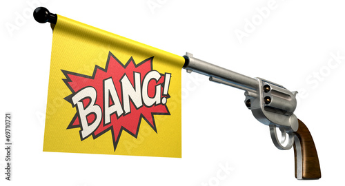 Photo  Pistol Bang Flag