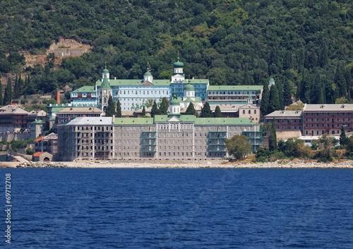 Fotografie, Obraz  Agiou Panteleimonos Monastery in Athos Mount, Greece