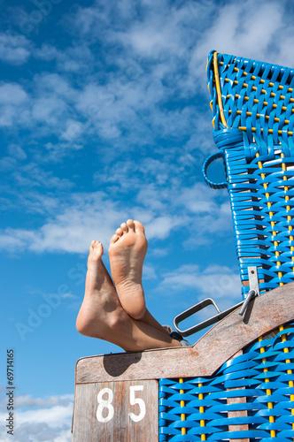 Entspannen im Strandkorb