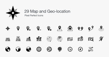 29 Map And Geo-location Pixel Perfect Icons