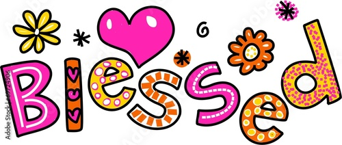 Photo Blessed Cartoon Text Clipart