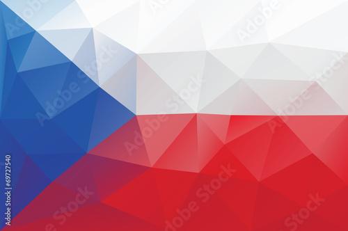 Obraz na plátně Czech flag